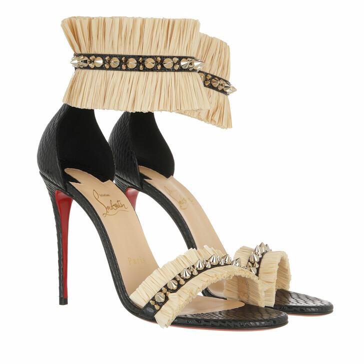 shoes, Christian Louboutin, Poupedou Sandal Black/Savanne