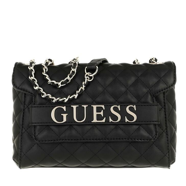 Handtasche, Guess, Illy Convertibe Crossbody Flap Black