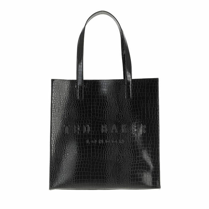 bags, Ted Baker, Croccon Croc Detail Large Icon Black