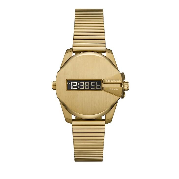 watches, Diesel, Baby Chief Digital Stainless Steel Watch Gold-Tone