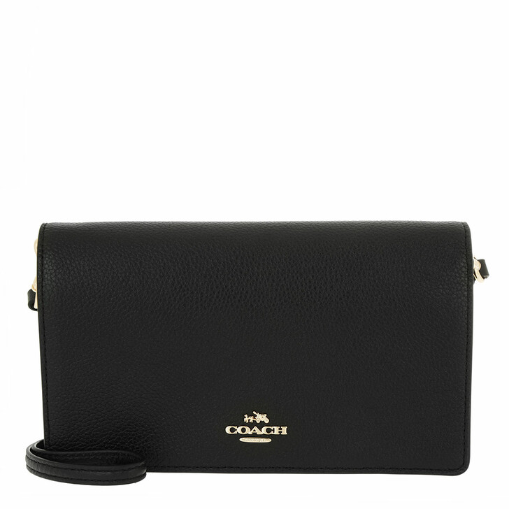 Handtasche, Coach, Polished Pebble Hayden Crossbody Bag Black