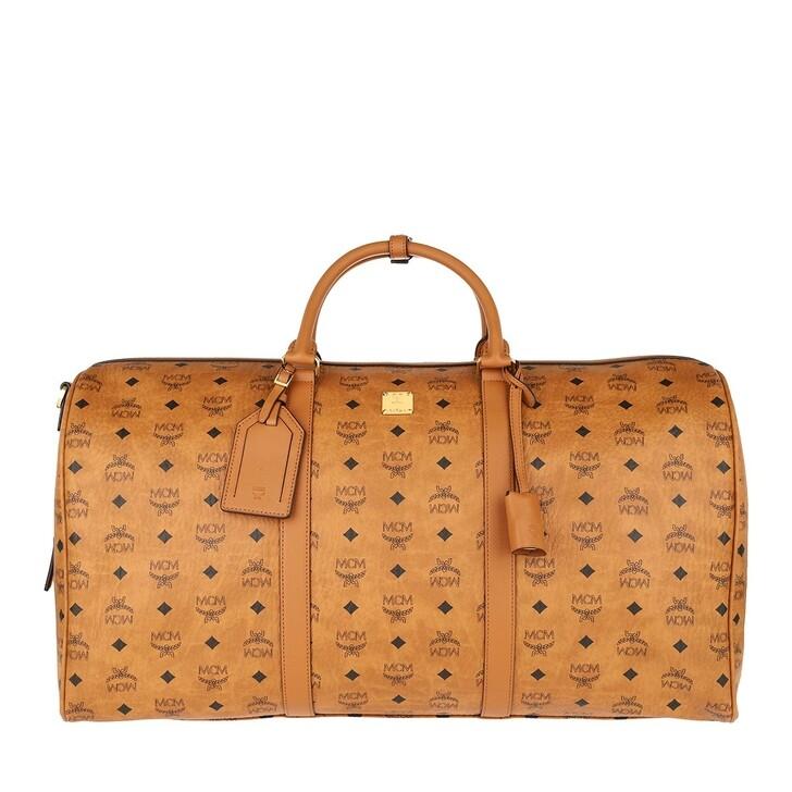 Handtasche, MCM, Traveler Visetos Weekender Cognac