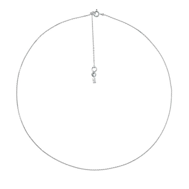 Kette, Michael Kors, Kors Women's Sterling Silver Starter Necklace Silver