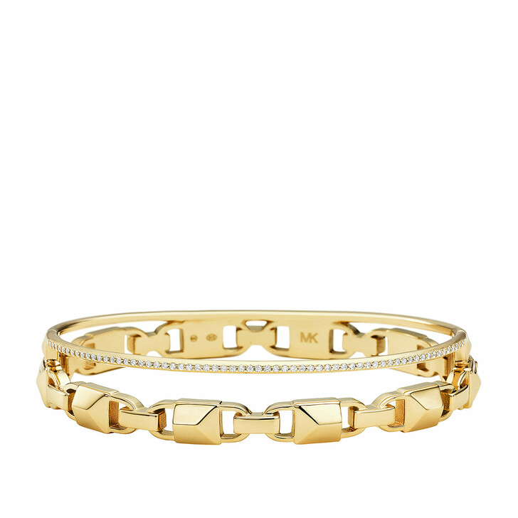 Armreif, Michael Kors, MKC1001AN710 Hinged Bangle Mercer Link Gold