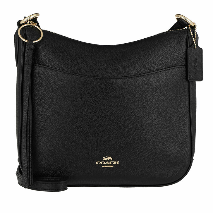 Handtasche, Coach, Polished Pebble Leather Chaise Crossbody Black