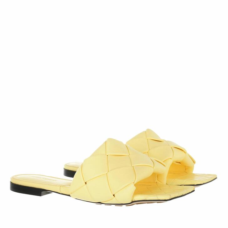 shoes, Bottega Veneta, Lido Intrecciato Flat Sandals Lemonade