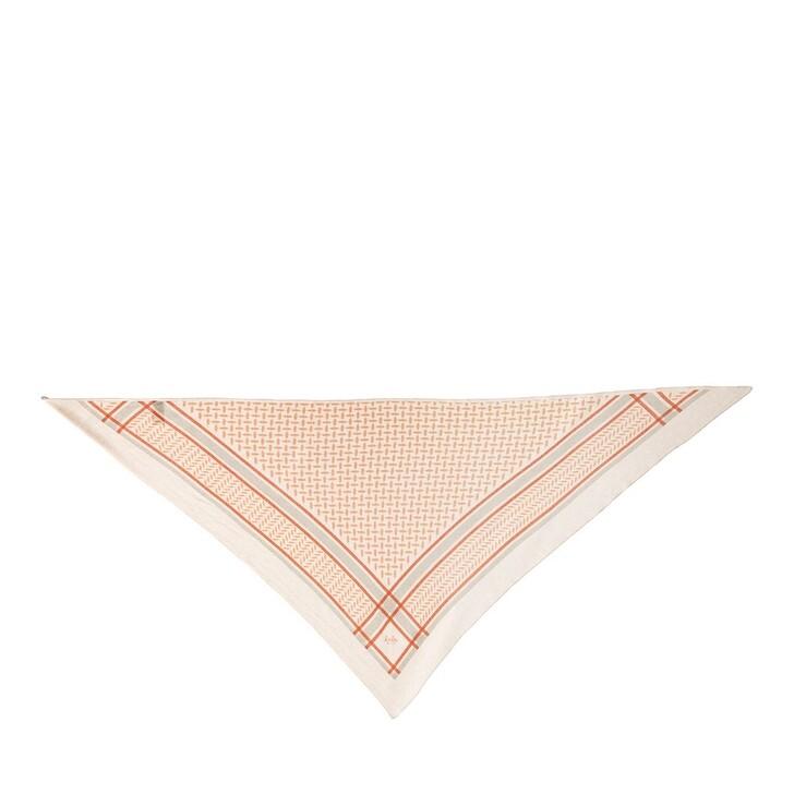 Schal, Lala Berlin, Triangle Trinity Classic Coloured M Scarf Paprika on Peony