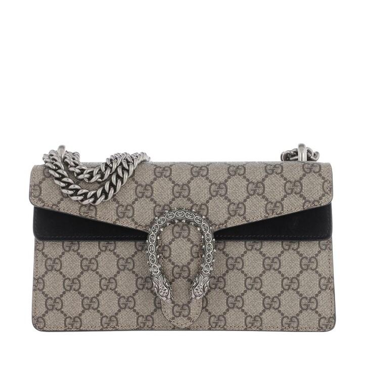 Handtasche, Gucci, Dionysus Small Shoulder Bag GG Supreme Beige/Ebony/Black