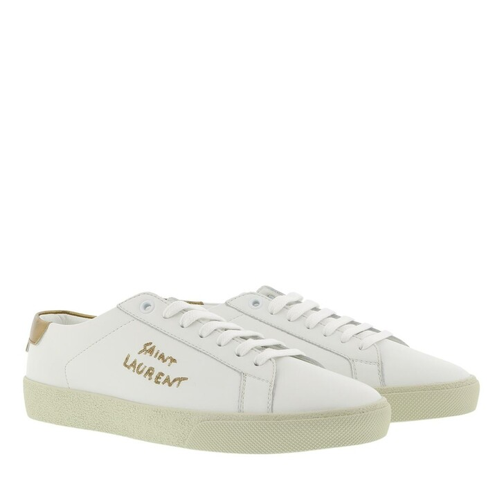 Schuh, Saint Laurent, Court Classic Sneaker Leather Blanc