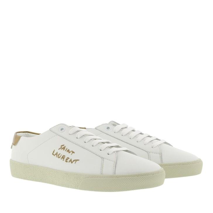 shoes, Saint Laurent, Court Classic Sneaker Leather Blanc