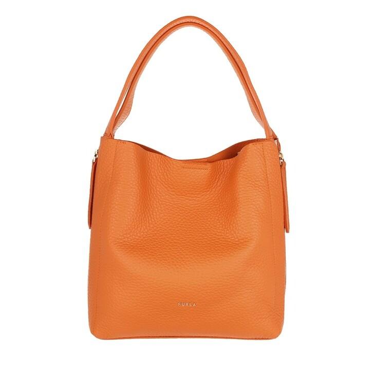 bags, Furla, Grace Medium Hobo Bag Orange Ballerina