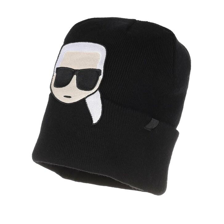 Schal, Karl Lagerfeld, K/Ikonik Embroidery Beanie Black