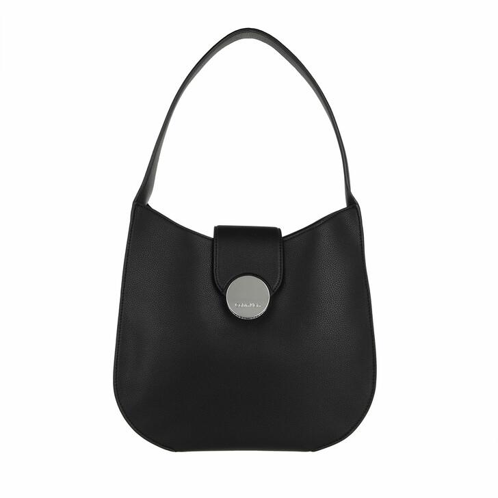 bags, Calvin Klein, CK Luxe Hobo CK Black