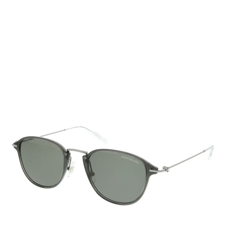 Sonnenbrille, Montblanc, MB0155S-001 51 Sunglass MAN INJECTION GREY