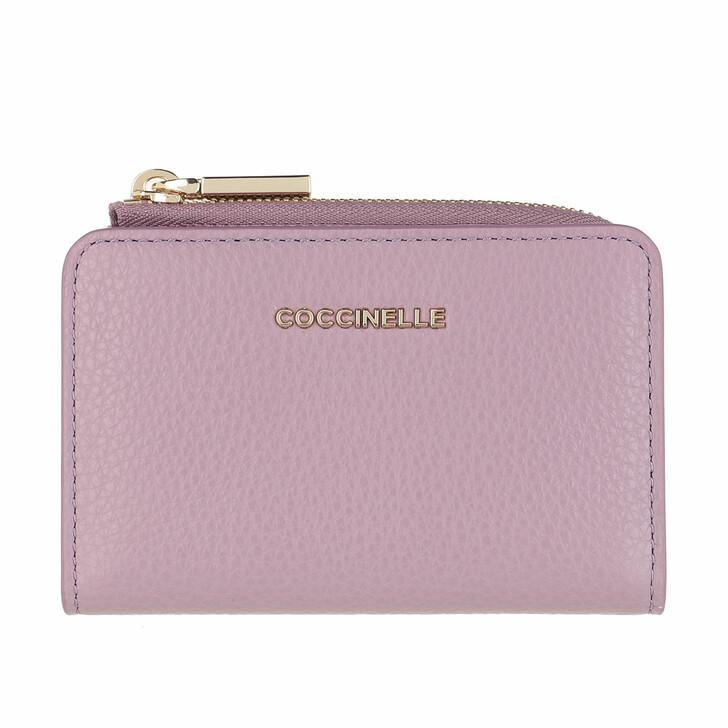 Geldbörse, Coccinelle, Credit Card Hold.Grainy Leather Mauve