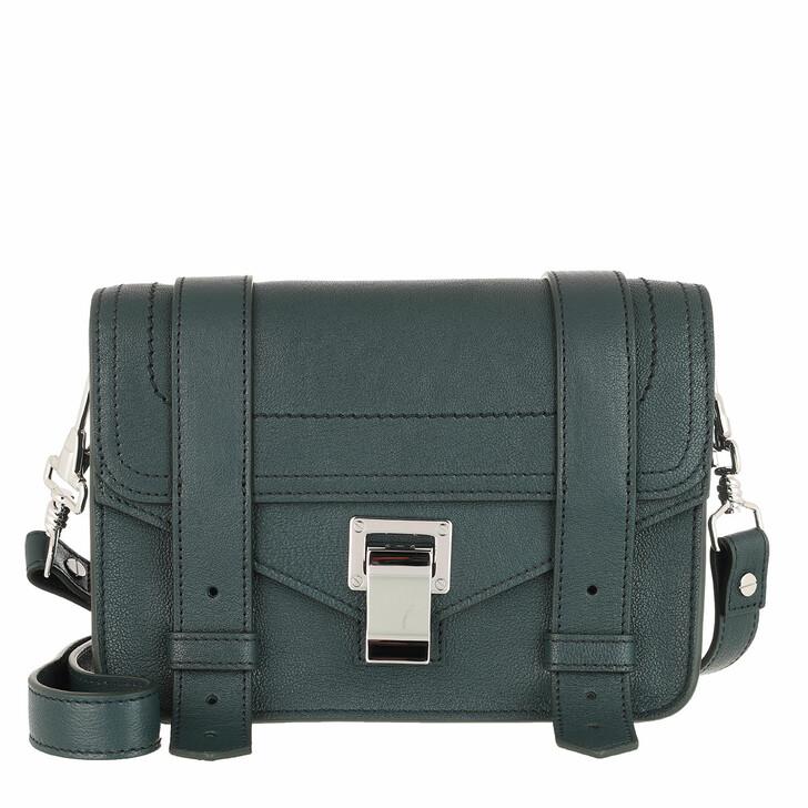 Handtasche, Proenza Schouler, PS1 Mini Crossbody Lux Leather Petrol Green