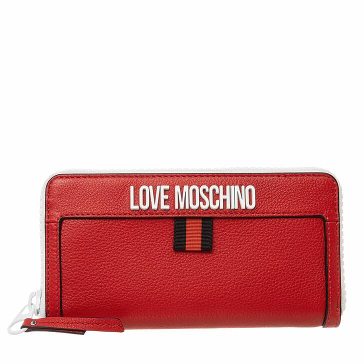 wallets, Love Moschino, Portaf Vit Natural Grain  Rosso