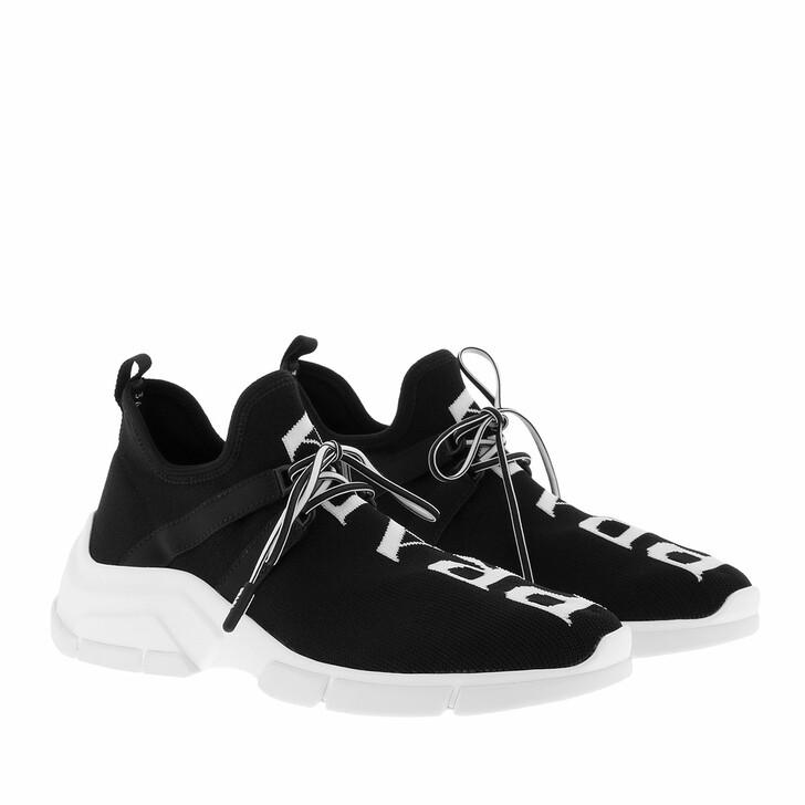 Schuh, Prada, Knit Sneakers Black/White