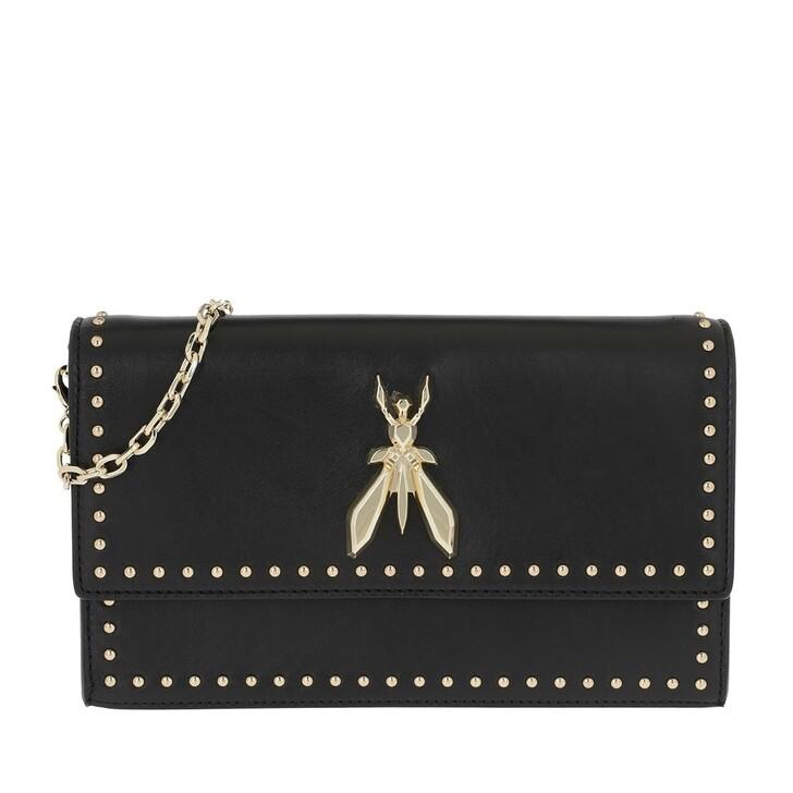 Handtasche, Patrizia Pepe, Gold Chain Crossbody Bag Nero