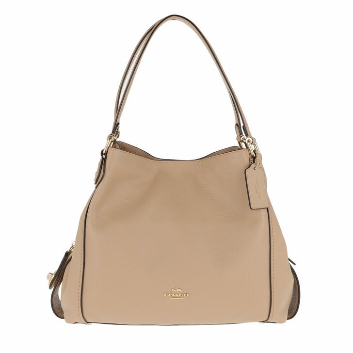 Handtasche, Coach, Polished Pebble Leather Edie 31 Shoulder Bag Beechwood