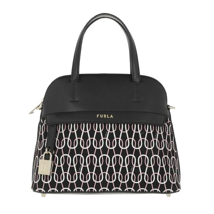 bags, Furla,  Piper S Dome Nero/Talco/Rosa