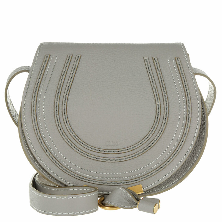 Handtasche, Chloé, Marcie Crossbody Bag Small Cashmere Grey