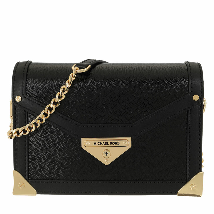Handtasche, MICHAEL Michael Kors, Grace Small Trunk Crossbody Leather Black