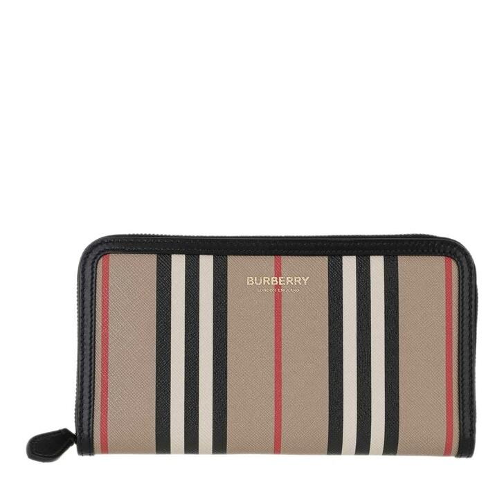 Geldbörse, Burberry, Icon Stripe Zip Around Wallet Multi