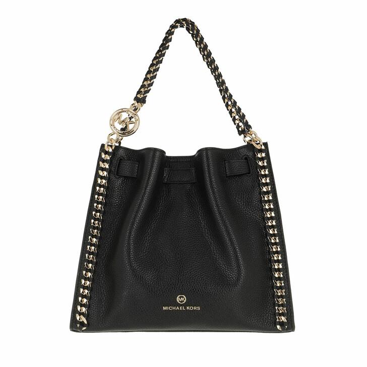 bags, MICHAEL Michael Kors, Medium Chain Conv Messenger Black
