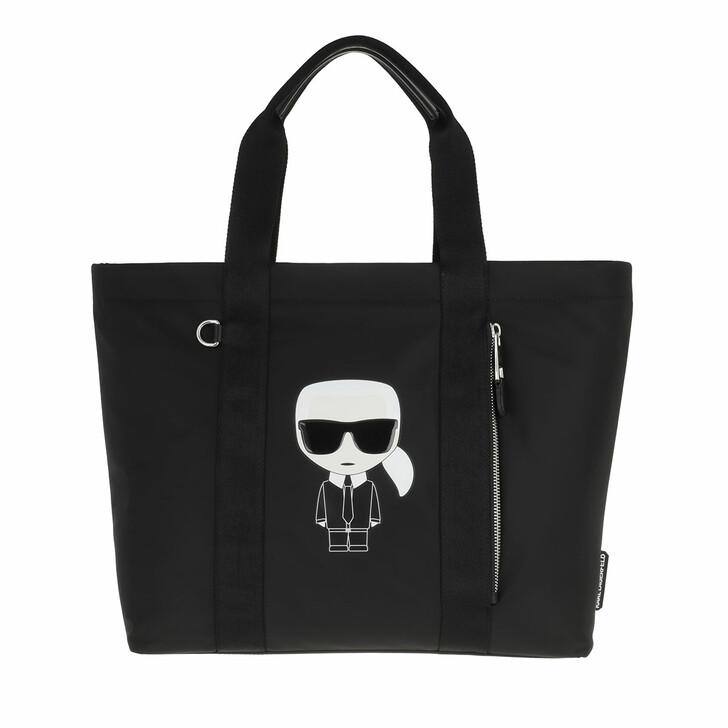 bags, Karl Lagerfeld, Ikonik Nylon Tote  Black