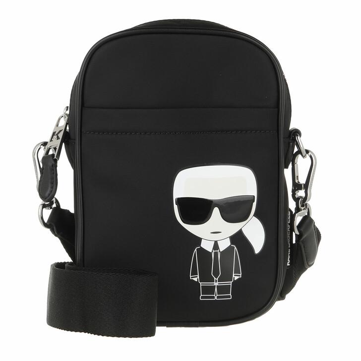 bags, Karl Lagerfeld, K/Ikonik Nylon Crossbody A999 Black