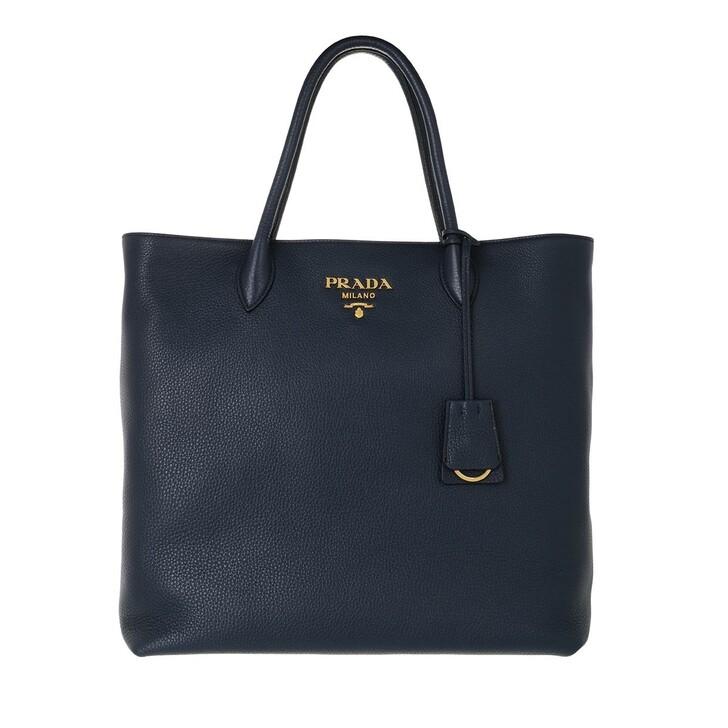 bags, Prada, Shopping Bag Vitello Daino Baltico
