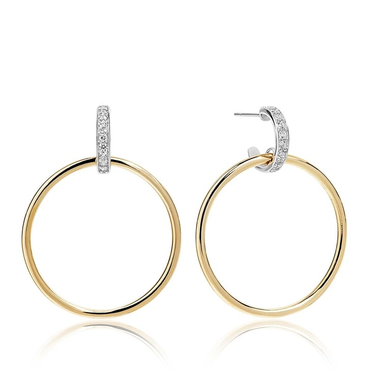 Ohrring, Sif Jakobs Jewellery, Itri Grande Earrings White Zirconia 18K Gold Plated