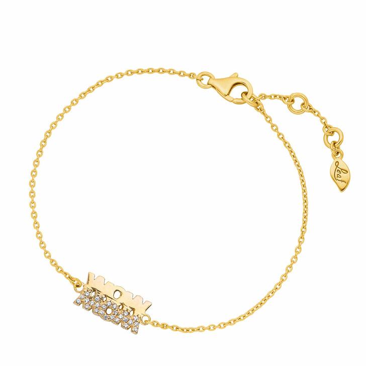 Armreif, Leaf, Bracelet Wow Mom Yellow Gold