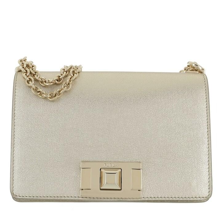 Handtasche, Furla, Mimi Mini Crossbody Color Platino