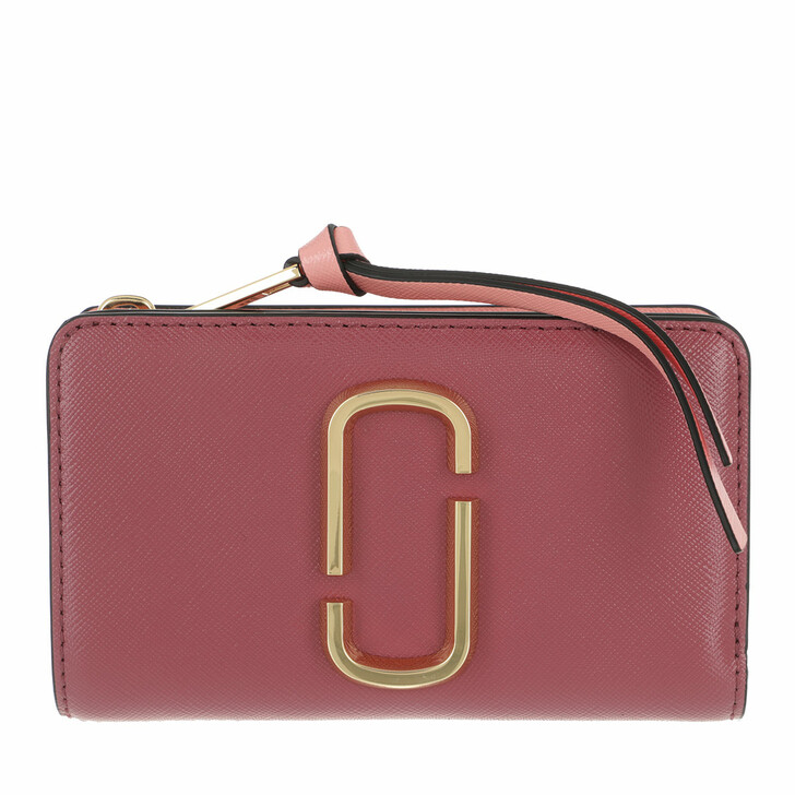 Geldbörse, Marc Jacobs, The Snapshot Compact Wallet Dusty Ruby Multi
