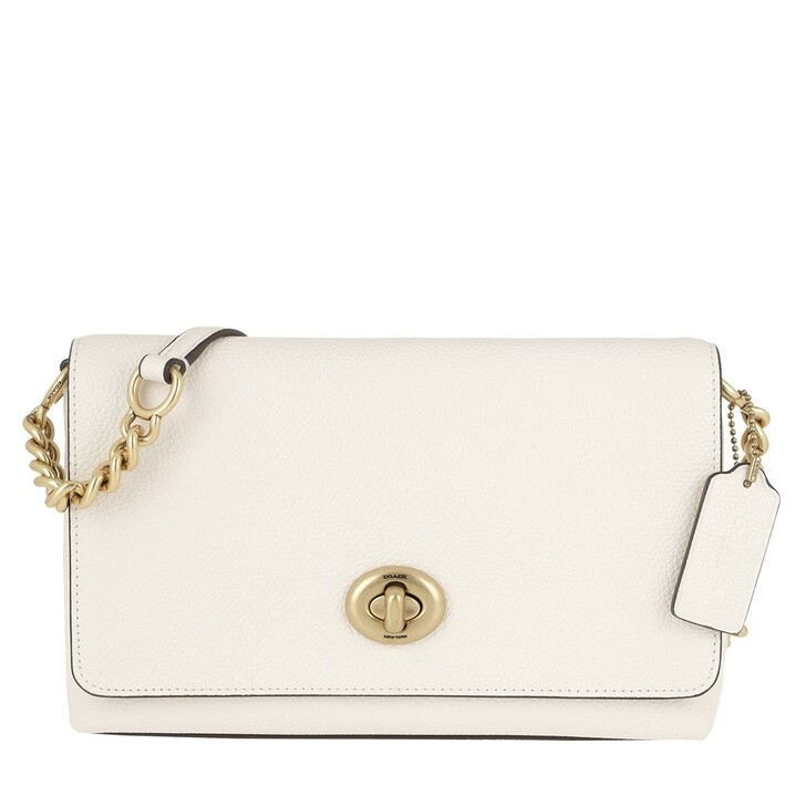 Handtasche, Coach, Polished Pebble Leather Crosstown Crossbody B4/Chalk