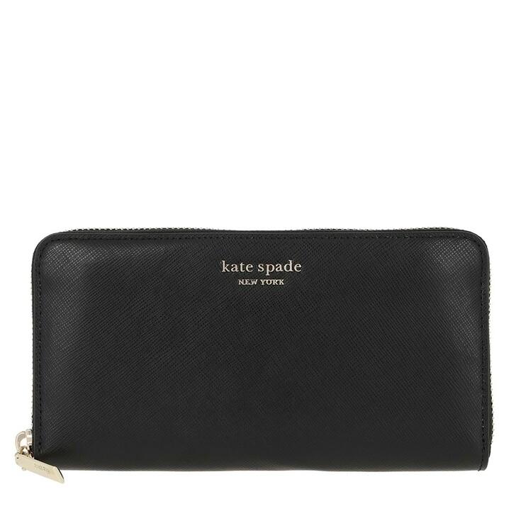 wallets, Kate Spade New York, Zip Around Continental Wallet  Black