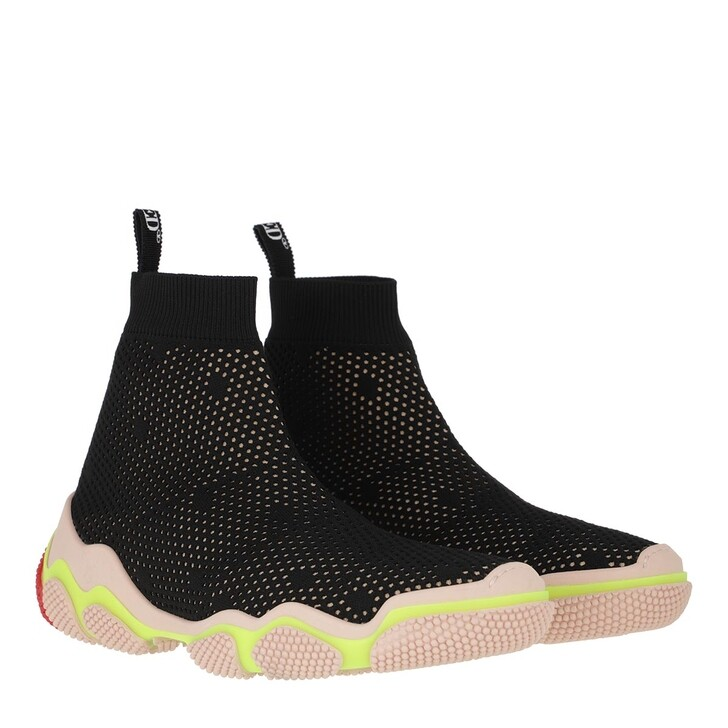 Schuh, Red Valentino, Sneaker Black/Nude Yellow Coral
