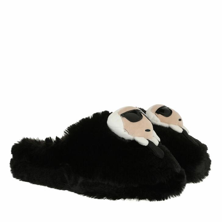 shoes, Karl Lagerfeld, KASA Karl Slipper Black