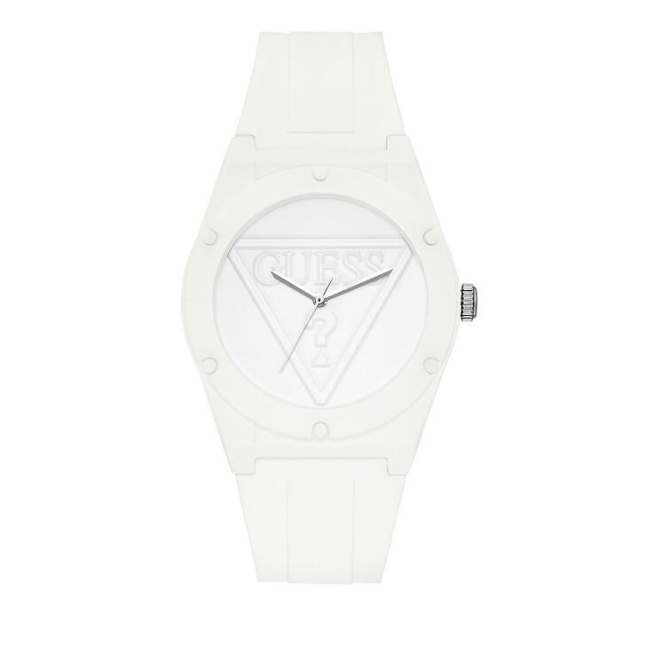 Uhr, Guess, Women Quartz Watch Retro Pop White