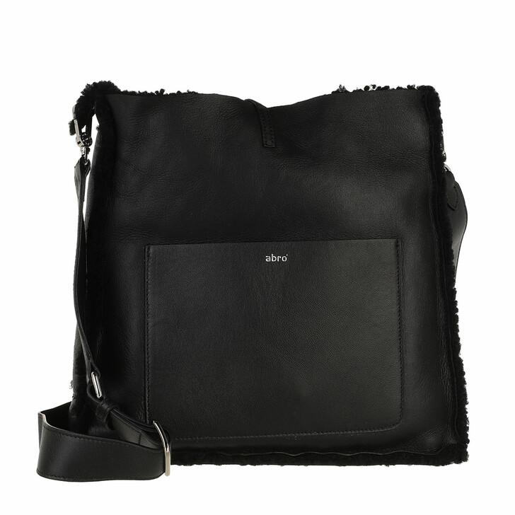 bags, Abro, Crossbody Bag RAQUEL big  Black/Nickel
