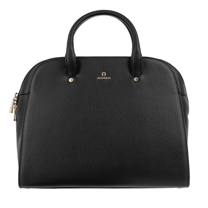 bags, AIGNER, Handle Bag Black