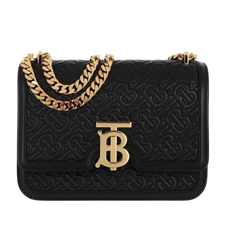 Handtasche, Burberry, TB Crossbody Bag Leather Black
