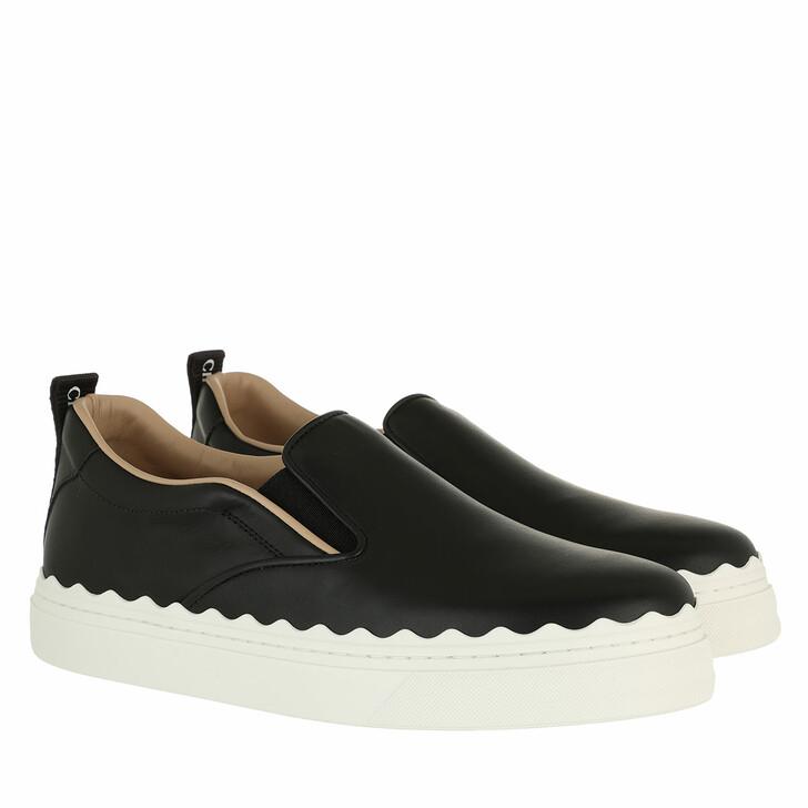 shoes, Chloé, Lauren Slip On Sneaker Leather Black