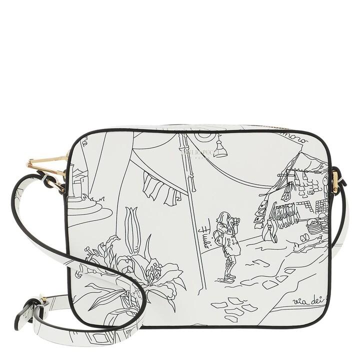 Handtasche, Emilio Pucci, Mini Bag Scorci Fiorent Bianco/Nero