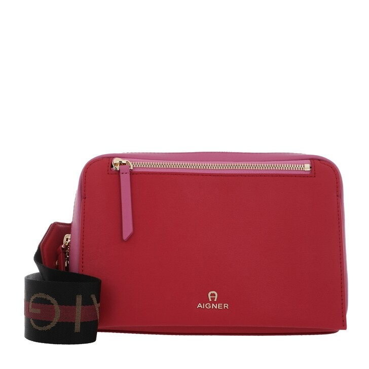 Handtasche, AIGNER, Pisa Crossbody Bag Velvet Cake Red