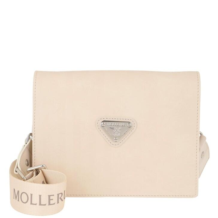 Handtasche, Maison Mollerus, Melide Crossbody Bag Pearl/Silver