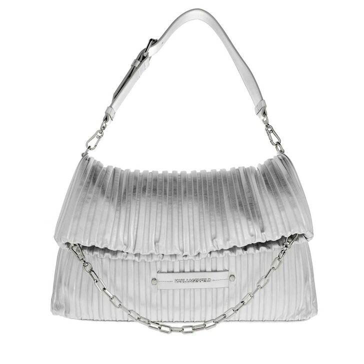bags, Karl Lagerfeld, Kushion Folded Tote Silver