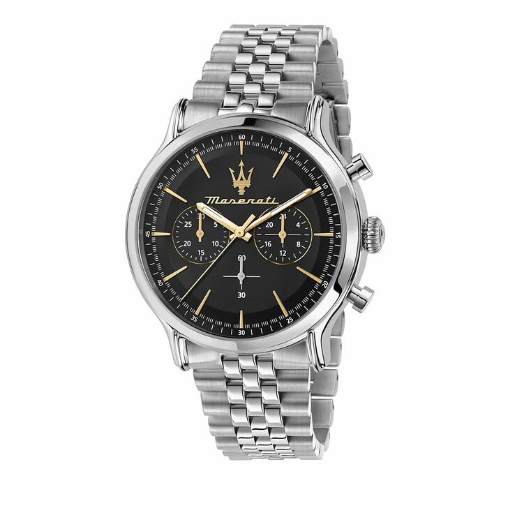 watches, Maserati, Watch Epoca 42mm Chr Black and Silver